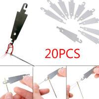 20X  Stainless Steel Cross-Stitch Threading Hook Needle Threader Stitch Craft