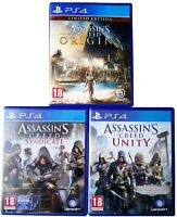 Assassin's Creed PS4 3 Game Bundle - Unity, Syndicate & Origins