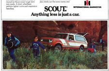 1979 Car Automobile Ad ~ IH International Harvester SCOUT For Camping