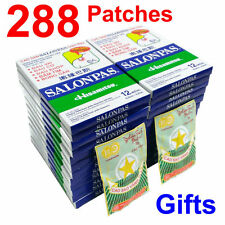 SALONPAS HISAMITSU 24 Packs x12=288 Patches MUSCLE ACHES PAIN RELIEF, Plus Gifts