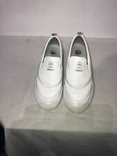 Adidas Match Court Mens Slip On White Leather Trainers Uk 6.5 Ref Ba5