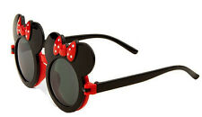 Ages 3-12 Kids Black Red Bow Mouse Ears Flip Up Sunglasses Lens Children Shades
