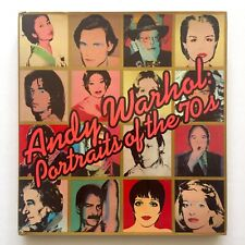 """"""" ANDY WARHOL PORTRAITS OF THE 70'S """" RARE 1979 1ST ED ICONIC EXHBT HC ART BOOK"""