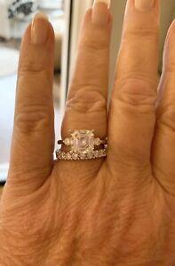 Charles Winston Moissanite 14K White Gold Asscher Cut Ring 4.38ctw ERV $1717.00