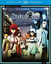 Steins; Gate: The Complete Series (Blu-ray/DVD, 2014, 8-Disc Set) New Slip NIP
