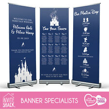 1 x Disney Magical Fairytale Wedding Pull Roll Up Roller Banner/Sign/Table Plan