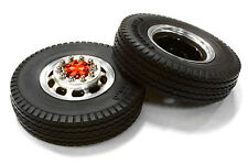C26576RED Integy Alloy T5 F Wheel & XE Tire Set for Hex Type 1/14 Scale Trucks