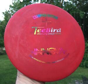 • Disc Golf INNOVA - Vintage Champion Edition STAR TEEBIRD Driver RED 170g