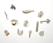 VINTAGE anni 1970 Argento Sterling 925 JOB LOTTO DI Fascino Charms 37.7g LOTTO 3
