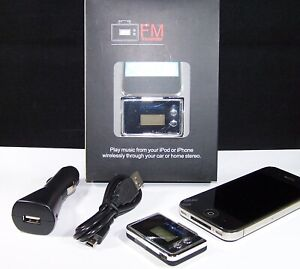 Mini FM Transmitter with Car Charger iPhone iPod Touch Nano Mini 30 Pin L109