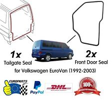 VW EuroVan 1992-2003 3 pcs High Quality Seal Kit: Tailgate (1) + Front Doors (2)