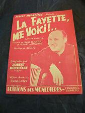 Partitura El Fayette me Se trata de Jonato Robert Monediere Music Sheet 1966