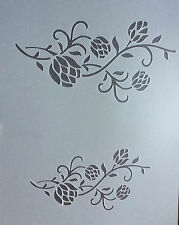 Roses Flowers Plants A4 Mylar Reusable Stencil Airbrush Painting Art Craft