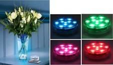 Teelicht 10 LEDs wasserdicht Farbwechsel Fernbedienung 6,5x2cm Partydeko *top*
