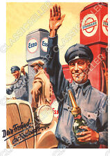 Standard Esso Tankstelle Poster Plakat Bild Kunstdruck Affiche Werbung Reklame