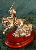 """Chilmark Pewter """"CRAZY HORSE"""" Special Registered Edition # 233 By Don Polland"""