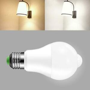 10W PIR Motion Sensor LED Lamp Bulb Body Infrared Auto Energy Saving Light US