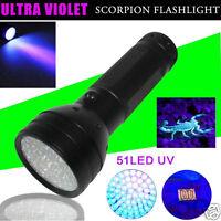 Ultra Violet 21-51 LED UV Scorpion Detector Finder Blacklight Flashlight Torch A