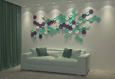 Sold 12 pcs molds 3D Wall Tiles concrete tiles *HEXAHEDRON* modern Art #W21