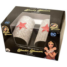 Rhinestone Cuffs Wonder Woman DC Super Hero Gauntlets Adult Halloween Accessory