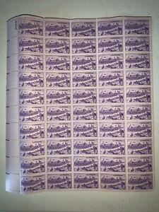 US Stamps SC# 994 Kansas City Missouri 3c sheet of 50 MNH 1950