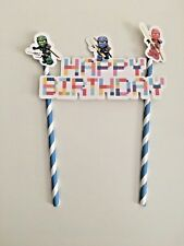 Lego NinjaGo themed Cake Ice cream Topper Kids Birthday Party decoration diy