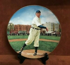 """Bradford Exchange Baseball Legends CY YOUNG """"Perfect Game"""" 22 Kt Gold Rim Plate"""