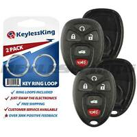 2 New Replacement Keyless Entry Remote Key Fob Clicker Case Shell for 15912860