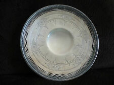 VINTAGE SILVER PLATED RETICULATED TRAY/MERIDEN S P CO.