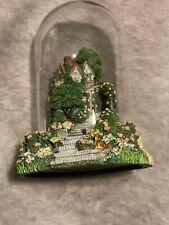 Franklin Mint Rose Arbor Cottage. Glass Dome