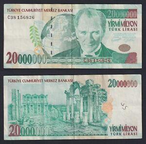 Turchia 20000000 turk lirasi 2001 BB/VF  B-04