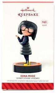 EDNA MODE The Incredibles NEW Hallmark 2014 Disney Pixar Ornament SOUND Super