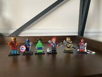 Marvel Comics Wolverine Thor Ironman Hilk Spider-Man Minifigures Lego Compatible