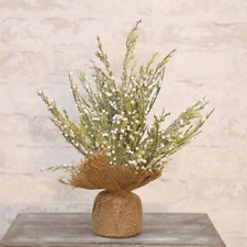 """Frost Berry 12"""" Faux Tree with Burlap Wrapped Base"""