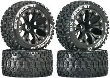 Duratrax Mounted Six Pack ST Tires Wheels Nitro Jato Stampede Rustler Front Rear