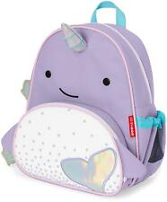 Skip Hop ZOO LITTLE KID BACK PACK - NARWHAL Toddler Rucksack Bag - NEW