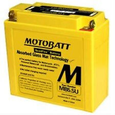 New MotoBatt MB5.5U Sealed QuadFlex AGM Motorcycle 12N5.5 Replacement Battery