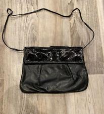 Fendi Vintage Black Leather Cross Body Bag / Clutch