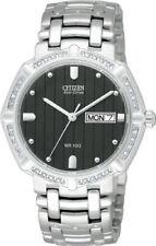 Citizen BM8340-50E Eco-Drive J-Class Diamond Black Dial Silver Tone Men's Watch