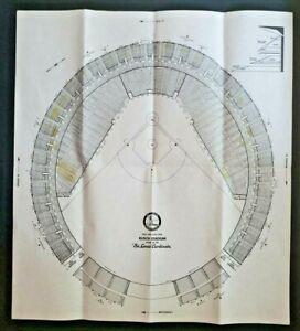 """1980's St. Louis Busch Stadium Seat Diagram Layout 20""""x18"""" Display U47"""