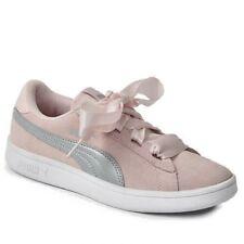 SCARPE Puma Smash V2 Ribbon Sneaker Donna 366003 02 ROSA NUOVO CAMOSCIO FIOCCO