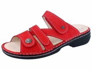 FINN COMFORT Ventura Soft Damen Pantolette rot monzared/Nubuk