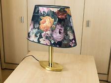 Lampenschirm Oval mit Blumen extravagantes Design stimmungsvoll E-27 40 cm xxl