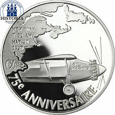 France 1,5 euro premier atlantikflug Charles Lindbergh argent pièce de monnaie 2002 PP