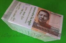 Bundle of 1000Pcs Cambodia 100 Riels Paper Money 2014/2015,P-NEW,Uncirculated