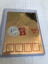 MICHAEL JORDAN 1997 Hoops 24kt GOLD Starting Five /2323 Bulls (missing gem) (x)