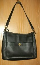 ELLIOT LUCCA Black Pebble Leather Shoulder Handbag Mint Condition