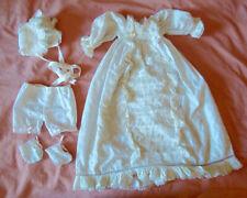 Ancienne robe de baptême et ses accessoires - Broderie anglaise et dentelles
