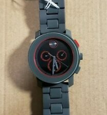 Movado Bold 3600272 Watch With 43.5mm Black Chronograph Face & Grey Breclet