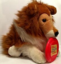 Animal Planet Collie With Flying Disc Barking Plush Stuffed Animal Toy Puppy Dog